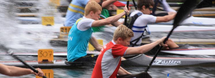 Kayak racing front