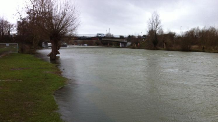 Flooded Thames in Winter 2014